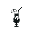 simple black stylish cocktail icon with ice vector image vector image