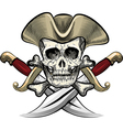 Skull in the hat vector image vector image
