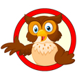 Smiling Owl Giving a Thumbs Up vector image vector image