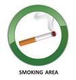 smoking area label smoking area icon info sign
