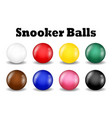 snooker balls set on a white background vector image