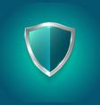 symbol protection guard green glossy shield vector image