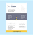 template layout for light comany profile annual vector image
