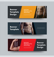 templates of black horizontal web banners with vector image vector image
