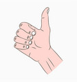 thumb up sign vector image vector image