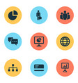 trade icons set collection of chatting hierarchy vector image vector image