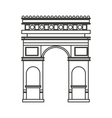 triumph arch france isolated icon vector image vector image