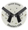 Two pistols emblem vector image