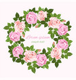 wedding invitations with pink and beige roses vector image vector image