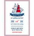 Wedding Marine Invitation Card vector image vector image