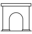 gate icon vector image