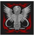 Vintage motorcycle emblem label badge logo and vector image