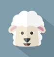 Modern Flat Design Sheep Icon vector image