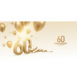 60th anniversary celebration background vector image vector image