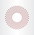 abstract circle background design vector image
