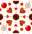 Bakery Sweets and Cookies Seamless Pattern vector image vector image