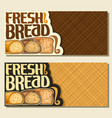 banners for bread vector image vector image