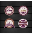 Barbecue BBQ grill logo stamp retro set vector image vector image