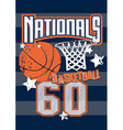 Basketball Nationals sports on stripped background vector image vector image