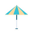 beach umbrella icon on white background for vector image vector image