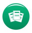 book professor icon green vector image vector image