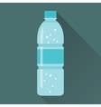 Bottle of Fresh Sparkling Water Flat Icon vector image vector image