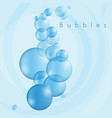 bubbles in blue vector image vector image