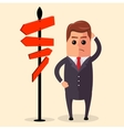 Businessman or manager have to choose vector image