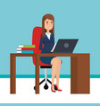 businesswoman in office character vector image