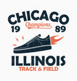 chicago track and field print for t-shirt vector image