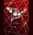 christmas and new year card 3d art deco dove vector image vector image