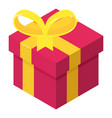 christmas gift icon isometric 3d style vector image vector image