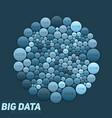 circular big data blue visualization vector image vector image