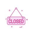 closed icon design vector image vector image