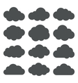 Cloud Shapes collection Set of Flat Cloud Icons vector image vector image