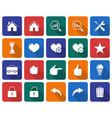 collection of rounded square icons user interface vector image vector image