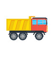 commercial tipper isolated icon vector image vector image