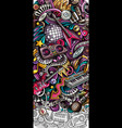 disco music hand drawn doodle banner cartoon vector image vector image