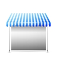 DIsolated business stall vector image vector image