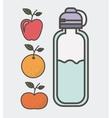 eat healthier design vector image