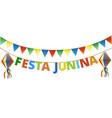 festa junina bunting vector image vector image