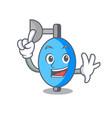 finger ambu bag mascot cartoon vector image