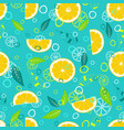 fruit mix pattern 3 vector image