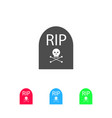 grave rip icon flat vector image vector image