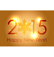 Happy New Year 2015 - gold glowing background vector image