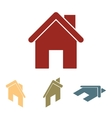 Home icon set Isometric effect vector image
