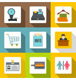 hotel service icons set flat style vector image vector image