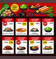japanese cuisine menu price cards template