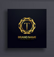 letter t luxury logo concept design vector image vector image