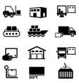 logistics supply chain distribution warehousing vector image vector image